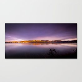 Sunset at Blueskin Bay, New Zealand Canvas Print