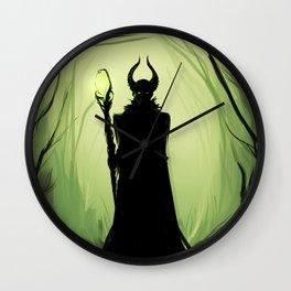 Maleficent woods Wall Clock