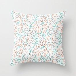 A Stringy Mess Throw Pillow