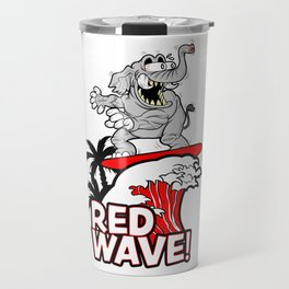 Red Wave Design for Conservative Republican 2018 Voters Travel Mug