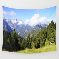 italian Wall Tapestries featuring Italian alps by Carlo Toffolo