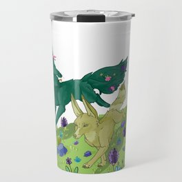 Wolves running - Balade de loup Travel Mug