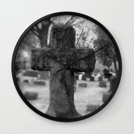 Cemetery Cross Wall Clock