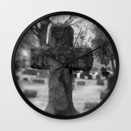 Cemetery Cross Wall Clock