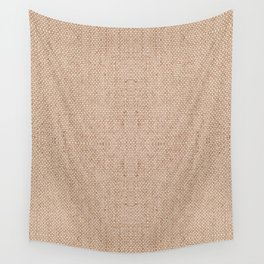 Beige flax cloth texture abstract Wall Tapestry