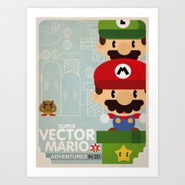 mario bros 2 fan art Art Print
