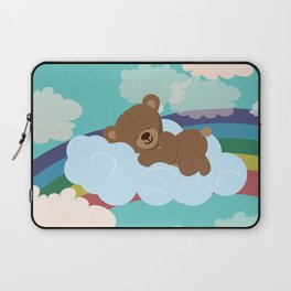 Teddy Bear and clouds Laptop Sleeve