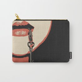 Yes Master, you have a key to my heart & body. Fetish erotic pop art illustration, sexy BDSM erotic Carry-All Pouch