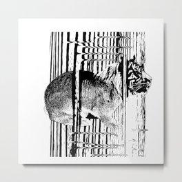 Rabbitiger #society6 #decor #buyart #artprint Metal Print
