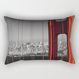 Golden Gate Bridge | Panoramic Downtown View Rectangular Pillow