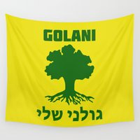 israel Wall Tapestries featuring Israel Defense Forces - Golani Warrior by crouchingpixel