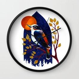 Window Bird Wall Clock