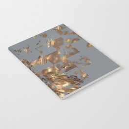Bronze on Gray Square #abstract #society6 #decor #geometry Notebook