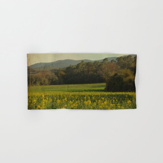 Once Upon a Time a Field of Flowers Hand & Bath Towel