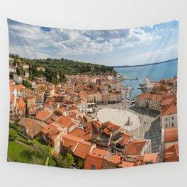Piran panorama Wall Tapestry
