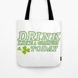 Like Champion Shamrocks Funny St Patrick's Day Irish Tote Bag