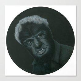 The Wolf Man on vinyl record print Canvas Print