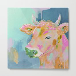 cow abstract painting Metal Print
