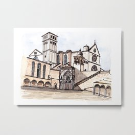 Basilica San Francesco d'Assisi Metal Print