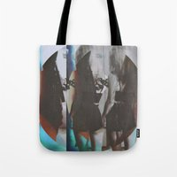 twins Tote Bags featuring Twins by Jane Lacey Smith
