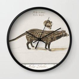 Alpine ibex Capra ibex (1596-1610) by Anselmus Botius de Boodt Wall Clock