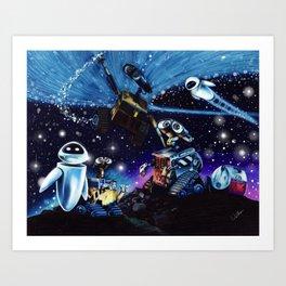 Wall-E Collage Art Print