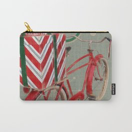 Holiday Bicycle Carry-All Pouch