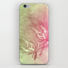 Pink and green wattle and kaleidoscope iPhone Skin