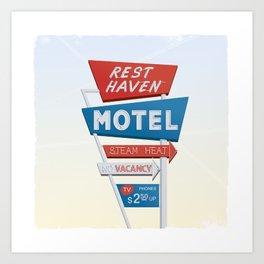 Rest Haven Motel Art Print
