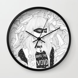 Lady of the Sharks Wall Clock