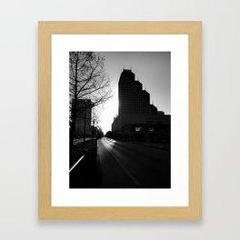 Morning in Downtown Framed Art Print