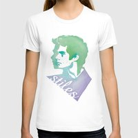 stiles stilinski T-shirts featuring Watercolor Stiles by Liz Swezey