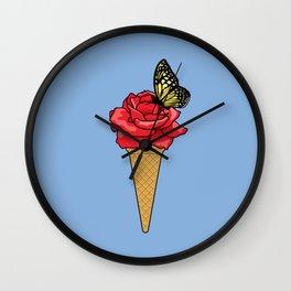 Butterfly Ice Cream Wall Clock