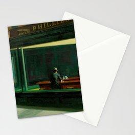 Nighthawks Vintage Original Painting Edward Hopper Stationery Cards