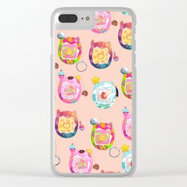 90s digital pets with neopets flair Clear iPhone Case
