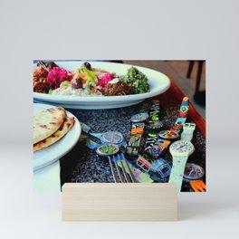 Middle Eastern Swatch Salad Mini Art Print