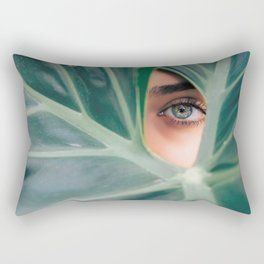 Botanical Eye Photography Rectangular Pillow