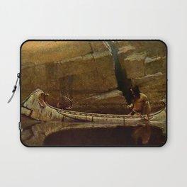 "N C Wyeth Vintage Western Painting ""Birch Bark Canoe"" Laptop Sleeve"