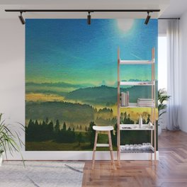 A beautiful day in the Kanton Schwyz  #oilpainting Wall Mural