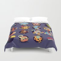 wall clock Duvet Covers featuring print for a clock - society6.com/code501/wall-clocks by CODE501