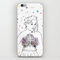 lungs iPhone & iPod Skins featuring Lungs by Sarah Hartnell