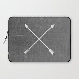 gray crossed arrows Laptop Sleeve