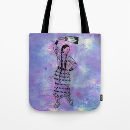 Idle No More  (Cree jingle dancer with feather fan) Tote Bag