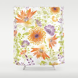 Floral print for spring Shower Curtain