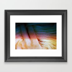 hair twist Framed Art Print