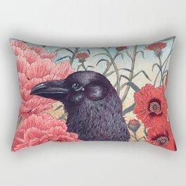 Crow Effigy Rectangular Pillow
