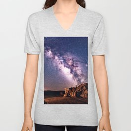 Bisti Badlands Night Sky Unisex V-Neck