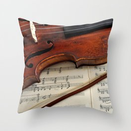 Old violin Throw Pillow
