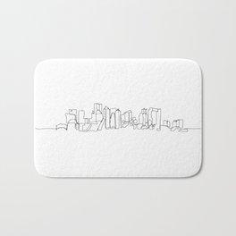 Boston Skyline Drawing Bath Mat