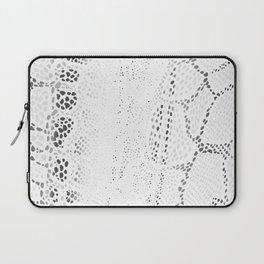 White Snake Skin Laptop Sleeve